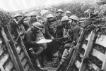 WW1 soldiers trench